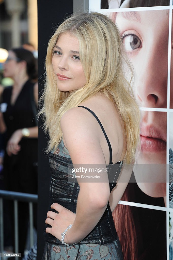 Actress Chloe Grace Moretz arrives at the Los Angeles Premiere of 'If I Stay' at TCL Chinese Theatre on August 20, 2014 in Hollywood, California.