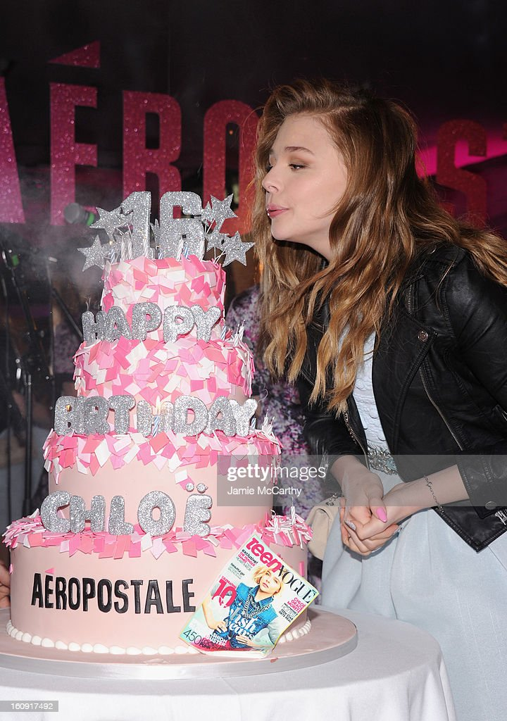 Actress <a gi-track='captionPersonalityLinkClicked' href=/galleries/search?phrase=Chloe+Grace+Moretz&family=editorial&specificpeople=856948 ng-click='$event.stopPropagation()'>Chloe Grace Moretz</a> attends the 10th Anniversary of Teen Vogue and Aeropostale's Celebration of <a gi-track='captionPersonalityLinkClicked' href=/galleries/search?phrase=Chloe+Grace+Moretz&family=editorial&specificpeople=856948 ng-click='$event.stopPropagation()'>Chloe Grace Moretz</a>'s Sweet 16 at Aeropostale Times Square on February 7, 2013 in New York City.