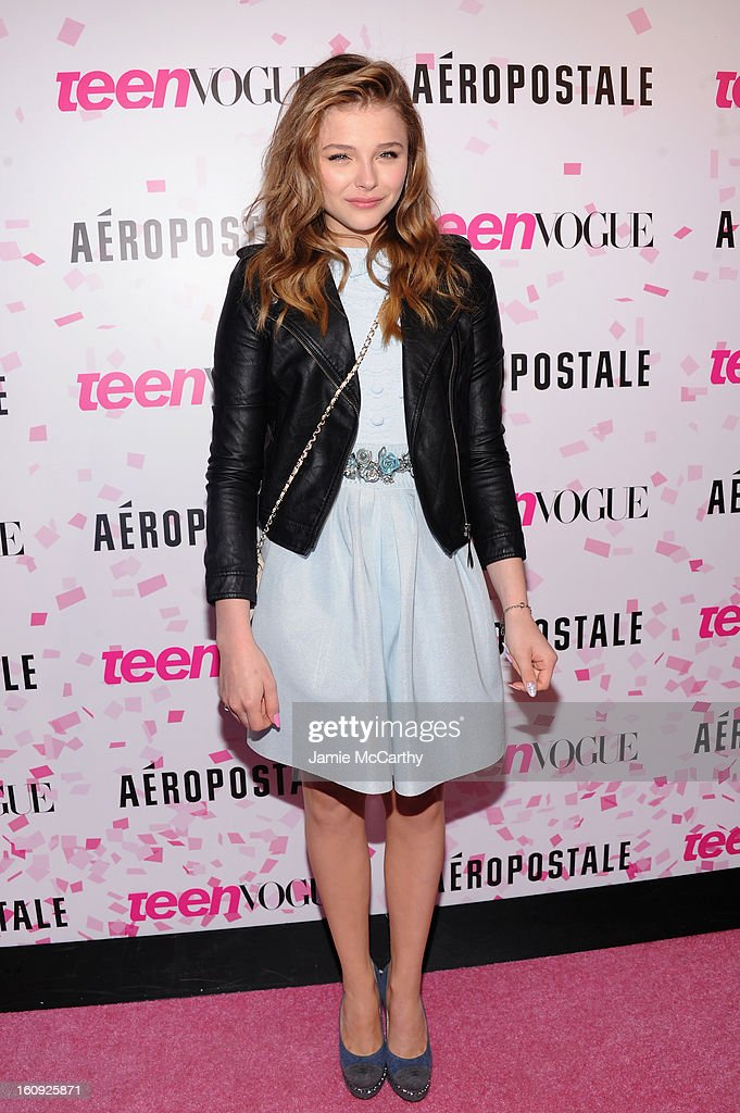 Actress Chloe Grace Moretz attends the 10th Anniversary of Teen Vogue and Aeropostale's Celebration of Chloe Grace Moretz's Sweet 16 at Aeropostale Times Square on February 7, 2013 in New York City.