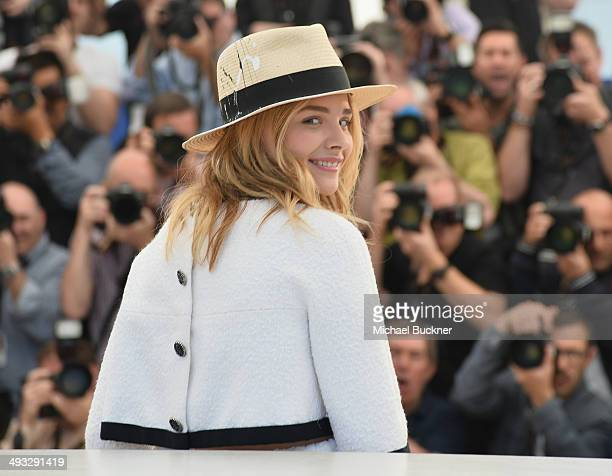 Actress Chloe Grace Moretz attends the 'Clouds Of Sils Maria' photocall during the 67th Annual Cannes Film Festival on May 23 2014 in Cannes France