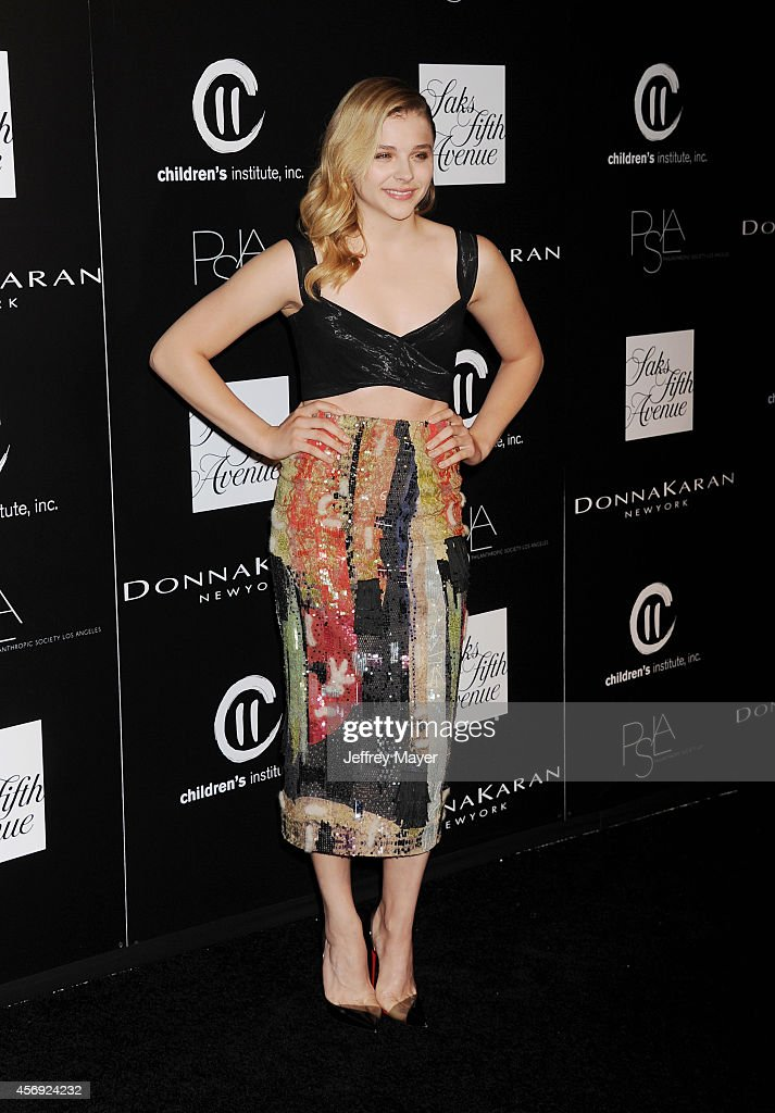 Actress Chloe Grace Moretz attends the fifth annual PSLA Autumn Party benefiting Children's Institute Inc sponsored by Saks Fifth Avenue with fashion...