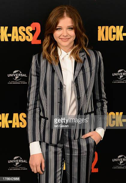 Actress Chloe Grace Moretz attends the 'KickAss 2' Photocall at Claridges Hotel on August 5 2013 in London England