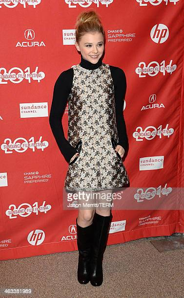 Actress Chloe Grace Moretz attends the 'Laggies' premiere at Eccles Center Theatre during the 2014 Sundance Film Festival on January 17 2014 in Park...