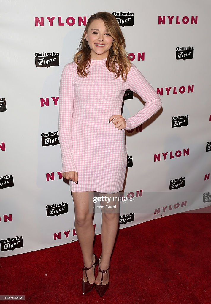 Actress <a gi-track='captionPersonalityLinkClicked' href=/galleries/search?phrase=Chloe+Grace+Moretz&family=editorial&specificpeople=856948 ng-click='$event.stopPropagation()'>Chloe Grace Moretz</a> attends the NYLON Magazine Annual May Young Hollywood Issue Party at The Roosevelt Hotel on May 14, 2013 in Hollywood, California.