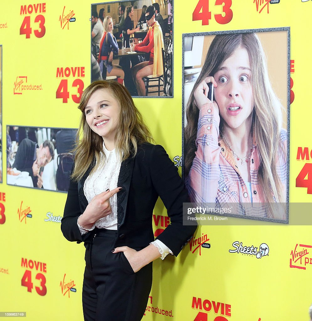 Actress Chloe Grace Moretz attends the Premiere Of Relativity Media's 'Movie 43' at the TCL Chinese Theatre on January 23, 2013 in Hollywood, California.