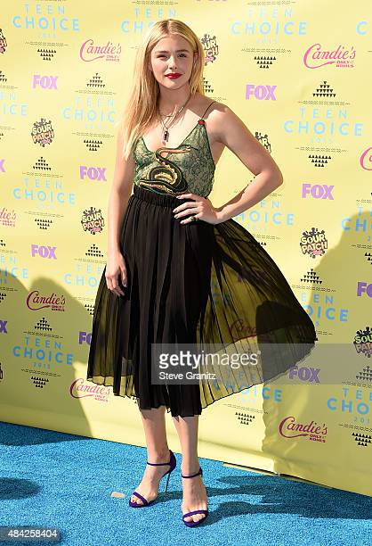 Actress Chloe Grace Moretz attends the Teen Choice Awards 2015 at the USC Galen Center on August 16 2015 in Los Angeles California