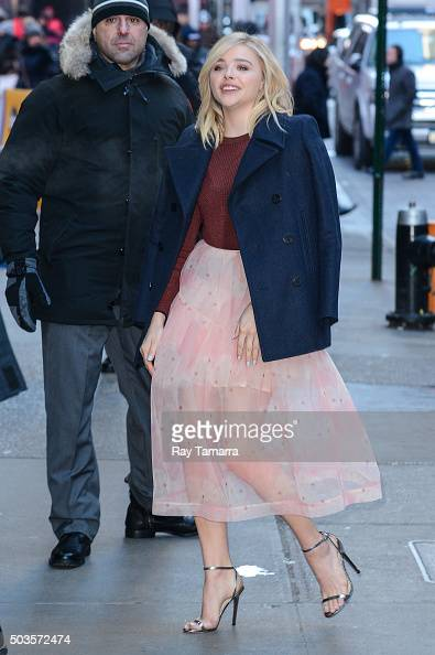Actress Chloe Grace Moretz enters the 'Good Morning America' taping at the ABC Times Square Studios on January 5 2016 in New York City