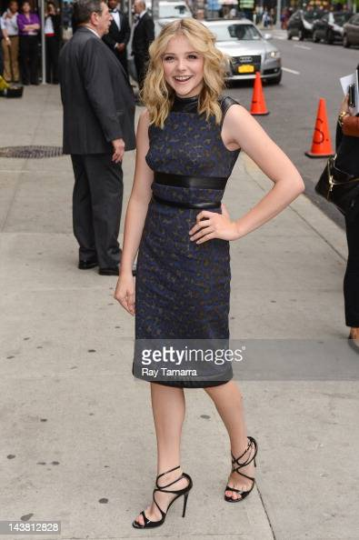 Actress Chloe Grace Moretz enters the 'Late Show With David Letterman' taping at the Ed Sullivan Theater on May 3 2012 in New York City