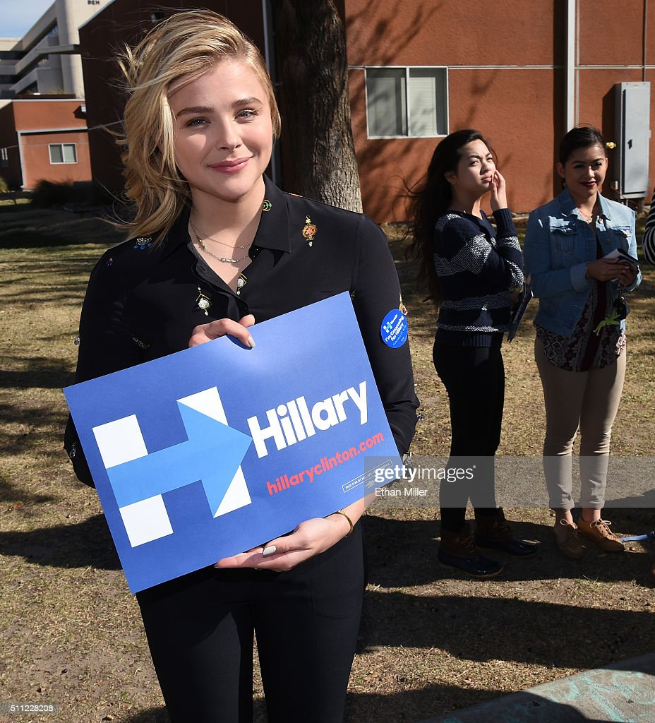 Chloe Grace Moretz Campaigns For Hillary Clinton In Las Vegas