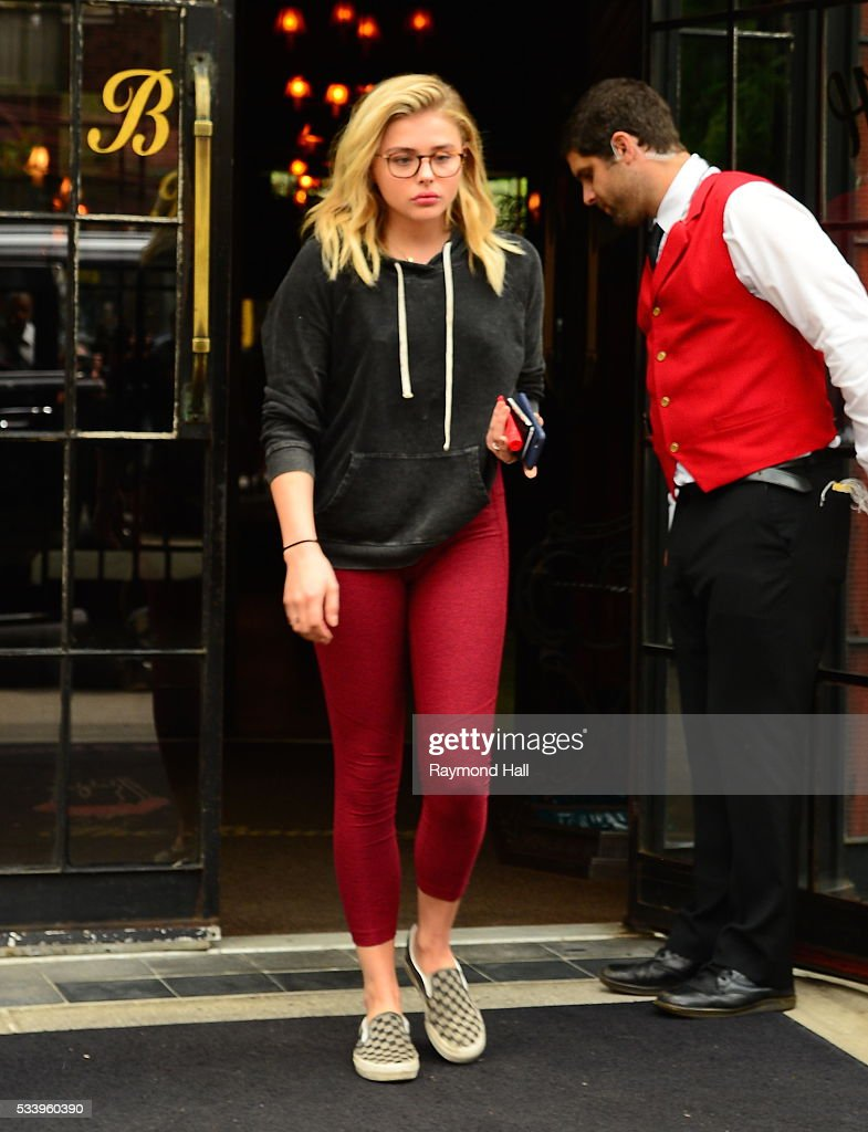 Actress Chloe Grace Moretz is seen walking in Soho on May 24, 2016 in New York City.