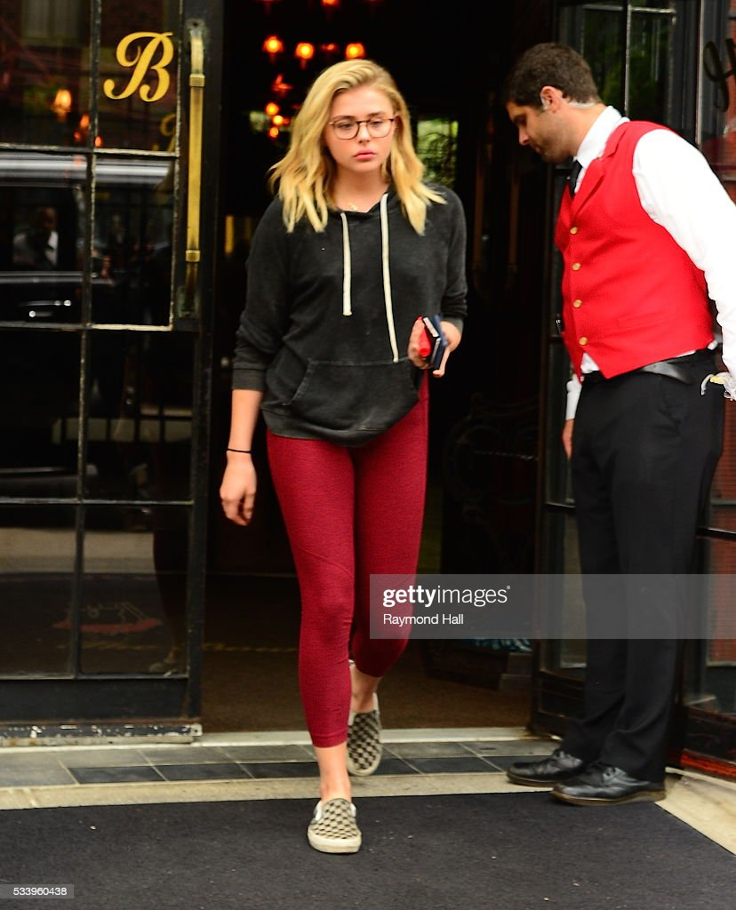 Actress Chloe Grace Moretz is seen walking in Soho on May 24, 2016 in New York City.