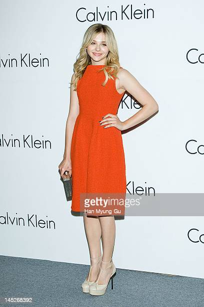 Actress Chloe Moretz attends the Calvin Klein Collection Hosts a special onenight exhibition entitled 'Infinite Loop' organized by the New Museum of...