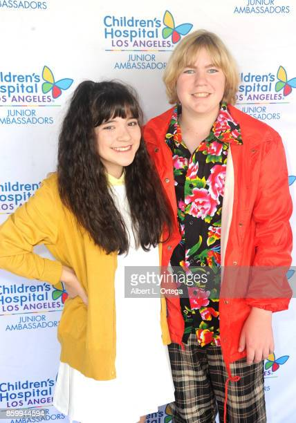 Actress Chloe Noelle and actor Connor Dean attend the 2nd Annual #Action Jax Movie Morning Fundraiser screening of 'The Goonies' presented by Nerds...