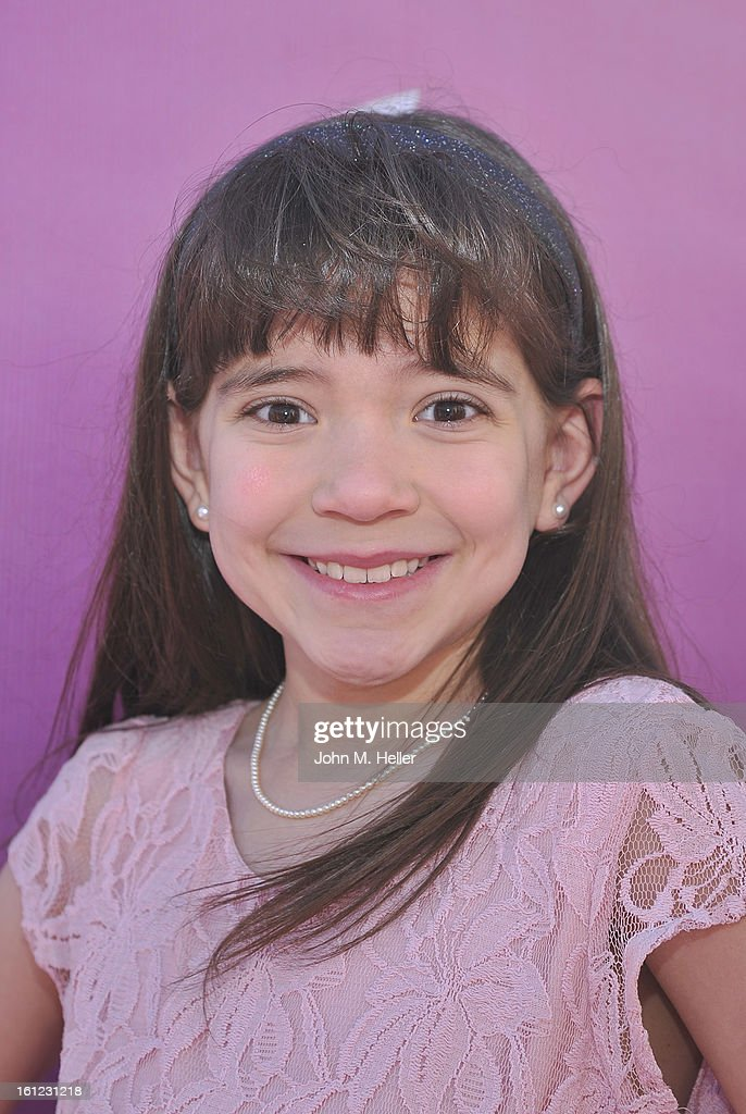 Actress Chloe Noelle arrives at the My Little Pony Coronation Concert at the Brentwood Theatre on February 9, 2013 in Los Angeles, California.