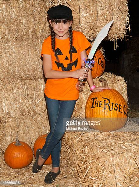 Actress Chloe Noelle attends 'Rise Of The Jack O'Lanterns' Los Angeles Premiere at Descanso Gardens on October 4 2014 in La CanadaFlintridge...