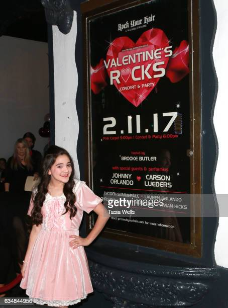 Actress Chloe Noelle attends Rock Your Hair presents 'Valentine's Rocks' at The Avalon Hotel on February 11 2017 in Los Angeles California