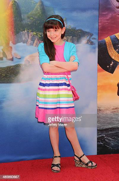 Actress Chloe Noelle attends the premiere of DisneyToon Studios' 'The Pirate Fairy' at Walt Disney Studios on March 22 2014 in Burbank California
