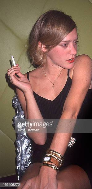 Actress Chloe Sevigney at a cocktail party in the Chelsea Club New York New York 1999