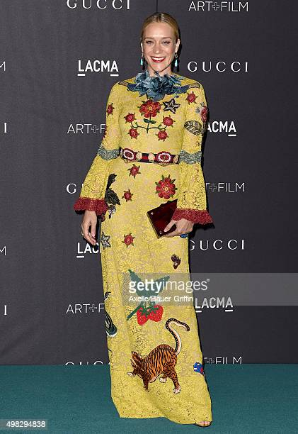 Actress Chloe Sevigny arrives at the LACMA 2015 ArtFilm Gala Honoring James Turrell And Alejandro G Inarritu Presented By Gucci at LACMA on November...