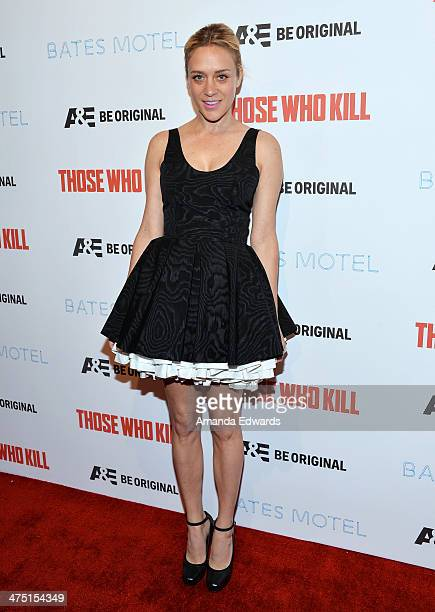 Actress Chloe Sevigny arrives at the premiere party for AE's Season 2 of 'Bates Motel' and the series premiere of 'Those Who Kill' at Warwick on...