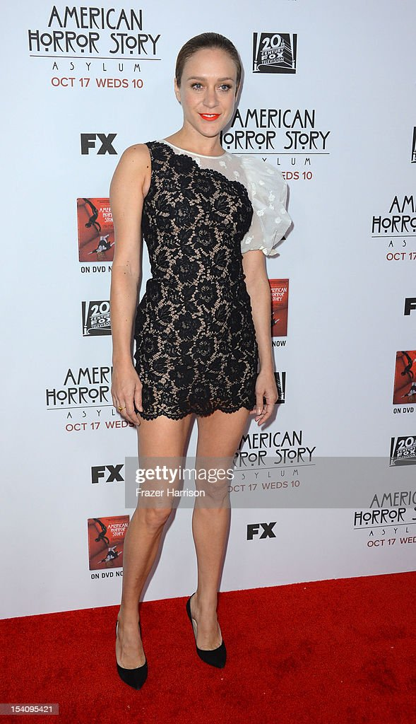 Actress <a gi-track='captionPersonalityLinkClicked' href=/galleries/search?phrase=Chloe+Sevigny&family=editorial&specificpeople=201550 ng-click='$event.stopPropagation()'>Chloe Sevigny</a> arrives at the Premiere Screening of FX's 'American Horror Story: Asylum' at the Paramount Theatre on October 13, 2012 in Hollywood, California.