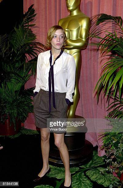 Actress Chloe Sevigny arrives for the annual Oscars nominees luncheon 13 March 2000 in Beverly Hills Ca Sevigny is nominated for an Academy Award for...