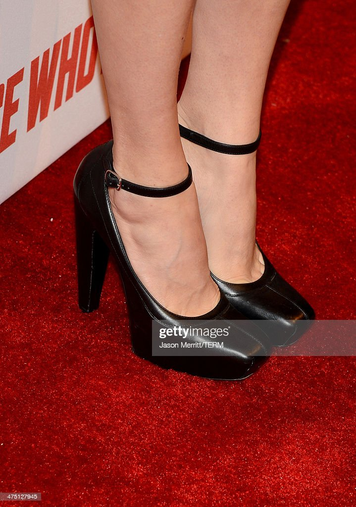 Actress Chloe Sevigny (shoe detail) attends A&E's 'Bates Motel' and 'Those Who Kill' Premiere Party at Warwick on February 26, 2014 in Hollywood, California.