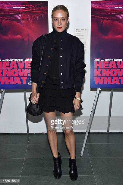 Actress Chloe Sevigny attends 'Heaven Knows What' New York premiere at the Celeste Bartos Theater at the Museum of Modern Art on May 18 2015 in New...
