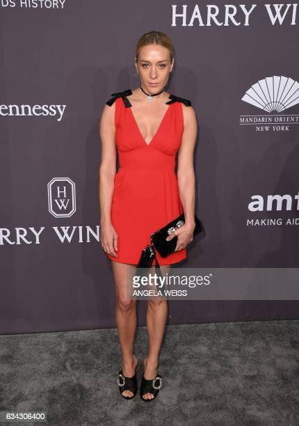 Actress Chloe Sevigny attends the 19th annual amfAR's New York Gala to kick off NY Fashion Week at Cipriani Wall Street on February 8 2017 in New...