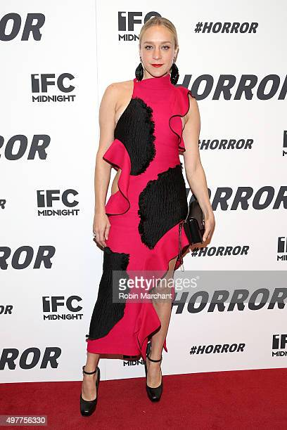 Actress Chloe Sevigny attends the New York premiere of '#Horror' at MoMA Titus One on November 18 2015 in New York City