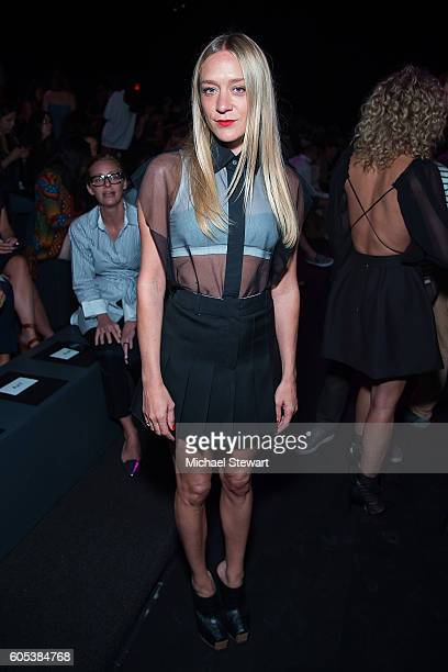 Actress Chloe Sevigny attends the Vera Wang Collection fashion show during September 2016 New York Fashion Week The Shows at The Arc Skylight at...