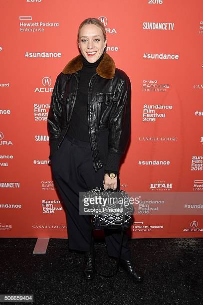 Actress Chloe Sevigny attends the 'Yoga Hosers' Premiere during the 2016 Sundance Film Festival at Library Center Theater on January 24 2016 in Park...
