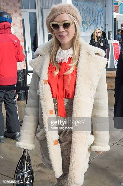 Actress Chloe Sevigny is seen around town at the Sundance Film Festival on January 24 2016 in Park City Utah