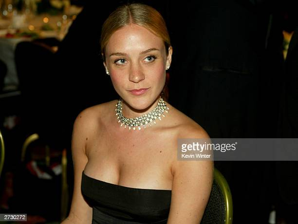 Actress Chloe Sevigny mingles during the cocktail party for 2003 Presentation of the 18th Annual American Cinematheque Award honoring Nicole Kidman...