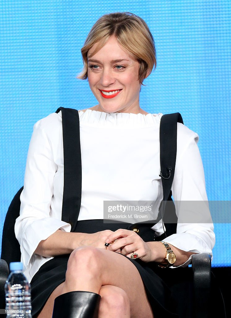 Actress Chloe Sevigny speaks onstage during the 'Portlandia ' panel discussion at the IFC portion of the 2013 Winter TCA Tourduring 2013 Winter TCA Tour - Day 1 at Langham Hotel on January 4, 2013 in Pasadena, California.