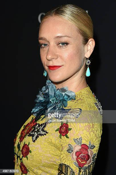 Actress Chloe Sevigny wearing Gucci attends LACMA 2015 ArtFilm Gala Honoring James Turrell and Alejandro G Iñárritu Presented by Gucci at LACMA on...