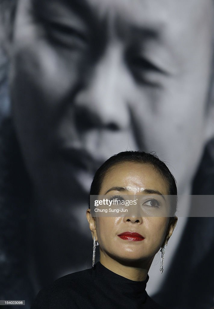 Actress Cho Min-Soo attends Open Talk during the 17th Busan International Film Festival (BIFF) at Haeundae beach on October 12, 2012 in Busan, South Korea. The biggest film festival in Asia showcases 304 films from 75 countries and runs from October 4-13.