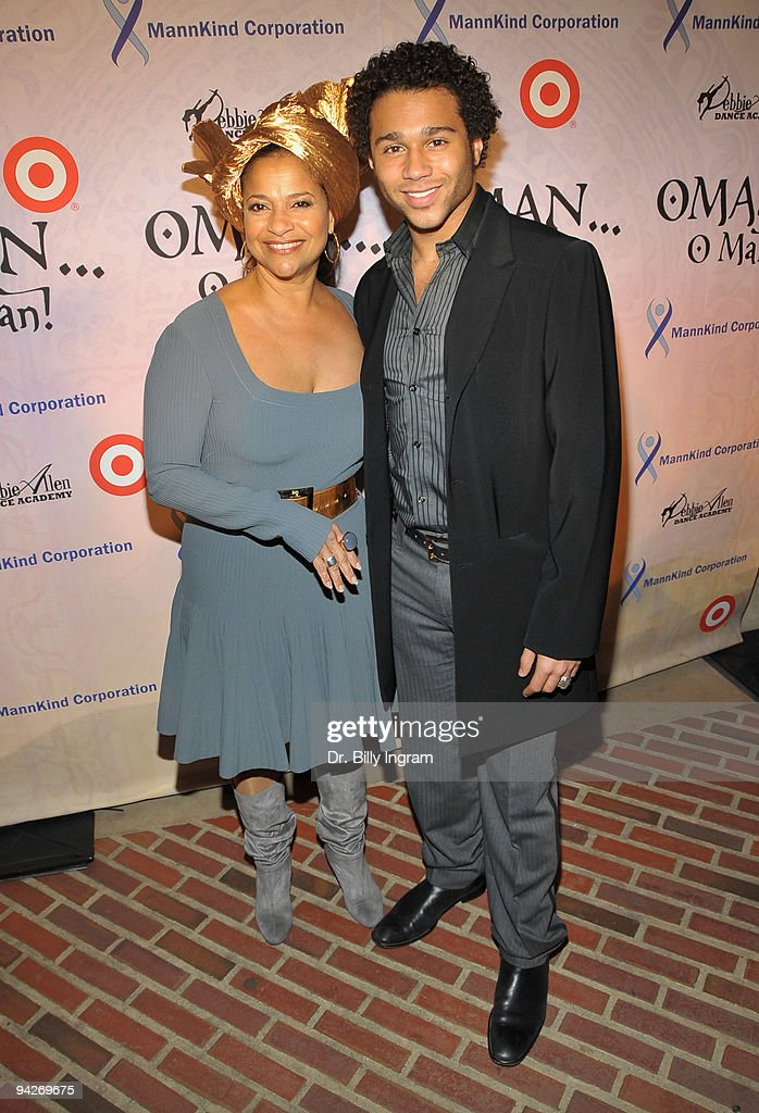 Actress/ choreographer Debbie Allen (L) and actor Cobrin Bleu arrive at Debbie Allen's 'OMAN, Oh Man!' Opening Night Gala at Royce Hall, UCLA on December 10, 2009 in Westwood, California.