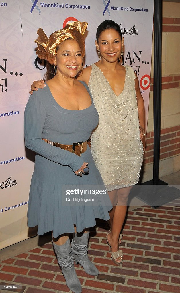 Actress/ choreographer Debbie Allen (L) and actress Salli Richardson Whitfield arrive at Debbie Allen's ''OMAN, Oh Man!'' opening night gala at the Royce Hall at UCLA on December 10, 2009 in Westwood, California.