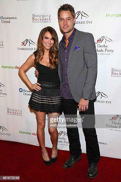 Actress Chrishell Stause and actor Justin Hartley attend the 5th Annual Los Angeles Unbridled Eve Derby Prelude Party at The London West Hollywood on...