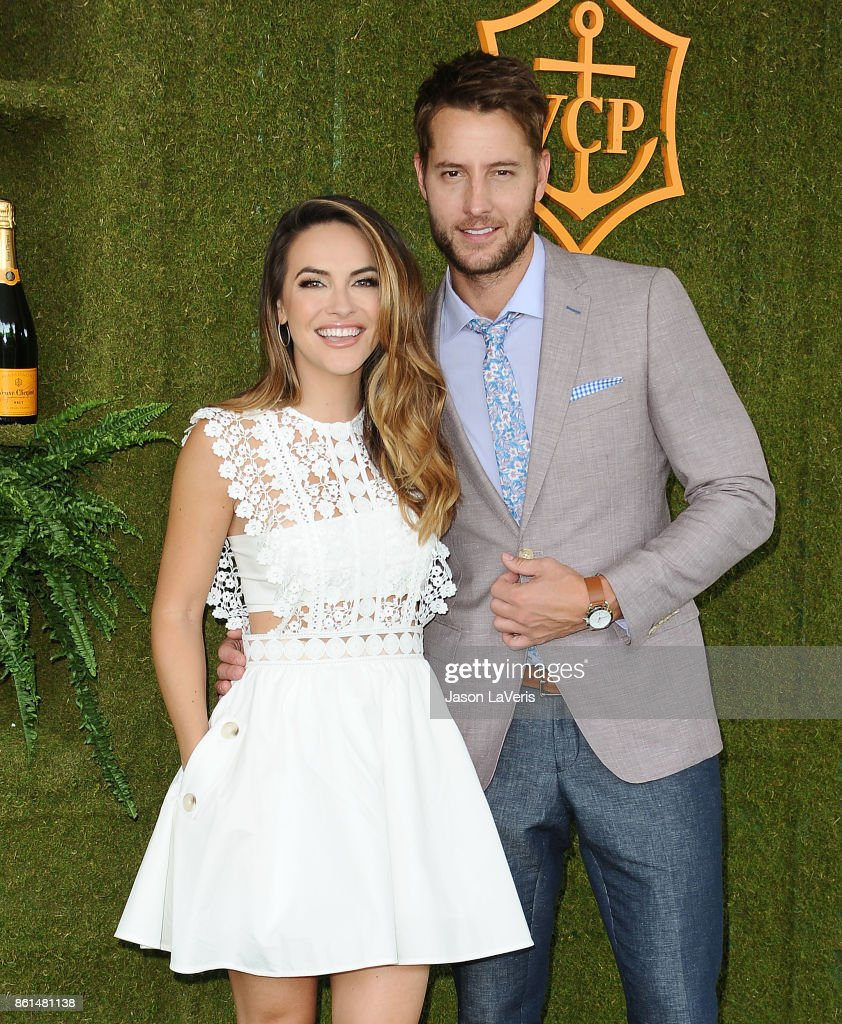 Actress Chrishell Stause and actor Justin Hartley attend the 8th annual Veuve Clicquot Polo Classic at Will Rogers State Historic Park on October 14, 2017 in Pacific Palisades, California.