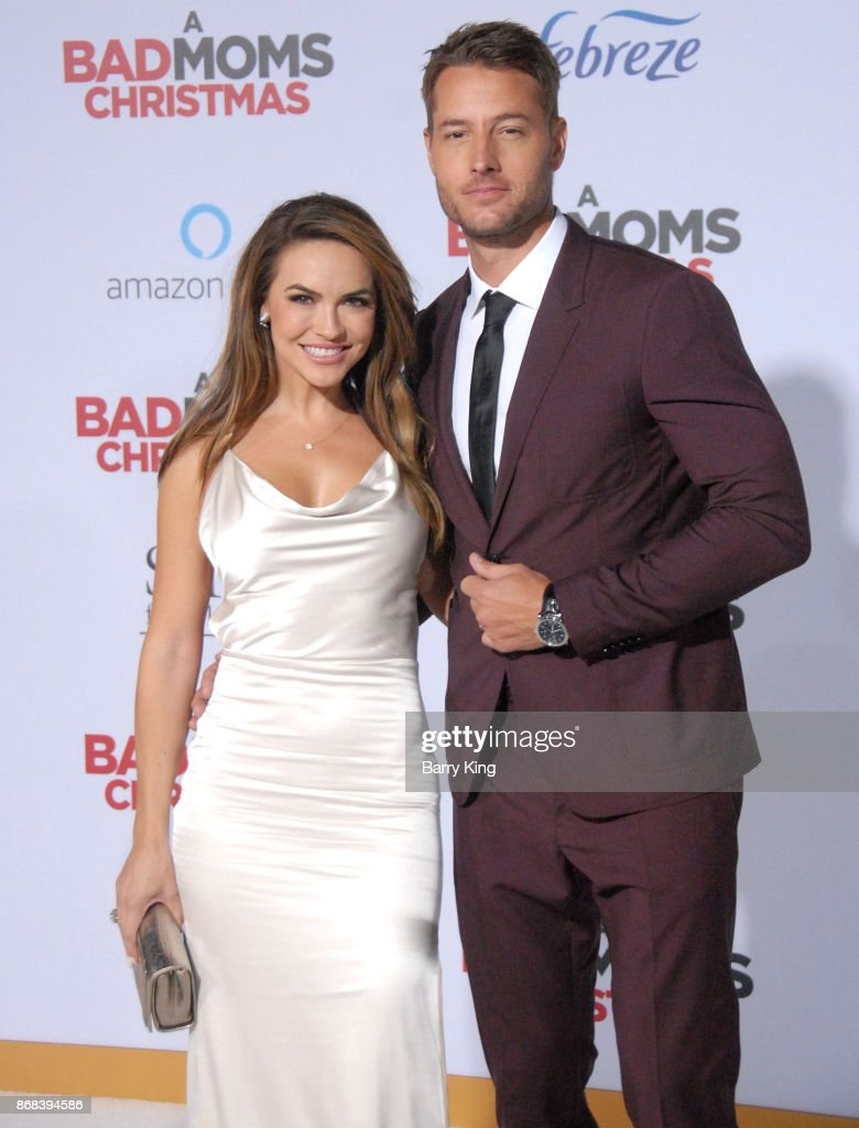 Actress Chrishell Stause and husband actor Justin Hartley attend the premiere of STX Entertainment's 'A Bad Mom's Christmas' at Regency Village Theatre on October 30, 2017 in Westwood, California.