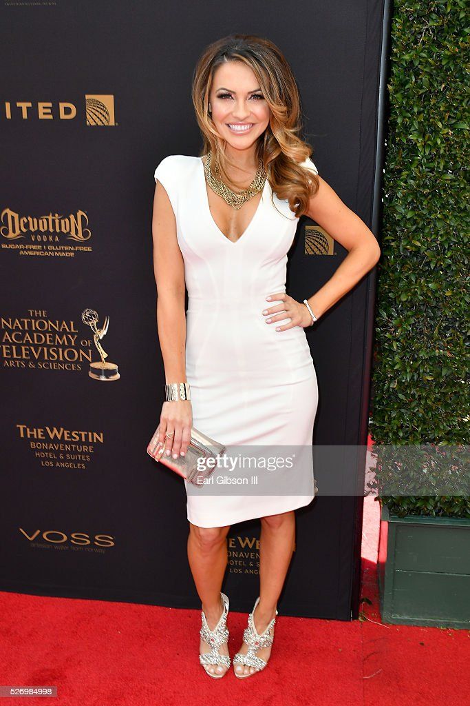Actress Chrishell Stause arrives at the 43rd Annual Daytime Emmy Awards at the Westin Bonaventure Hotel on May 1, 2016 in Los Angeles, California.