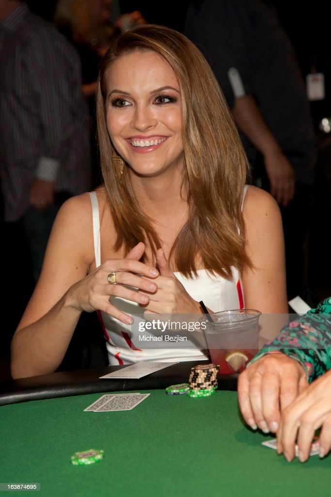 Actress <a gi-track='captionPersonalityLinkClicked' href=/galleries/search?phrase=Chrishell+Stause&family=editorial&specificpeople=675283 ng-click='$event.stopPropagation()'>Chrishell Stause</a> attends 'Fun For Animals' Celebrity Poker Tournament and Cocktail Party at Petersen Automotive Museum on March 16, 2013 in Los Angeles, California.