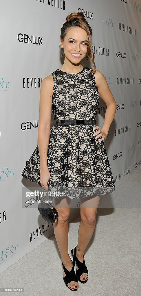 Actress <a gi-track='captionPersonalityLinkClicked' href=/galleries/search?phrase=Chrishell+Stause&family=editorial&specificpeople=675283 ng-click='$event.stopPropagation()'>Chrishell Stause</a> attends the GENLUX magazine Launch Event Party at The Beverly Center on November 14, 2013 in Los Angeles, California.