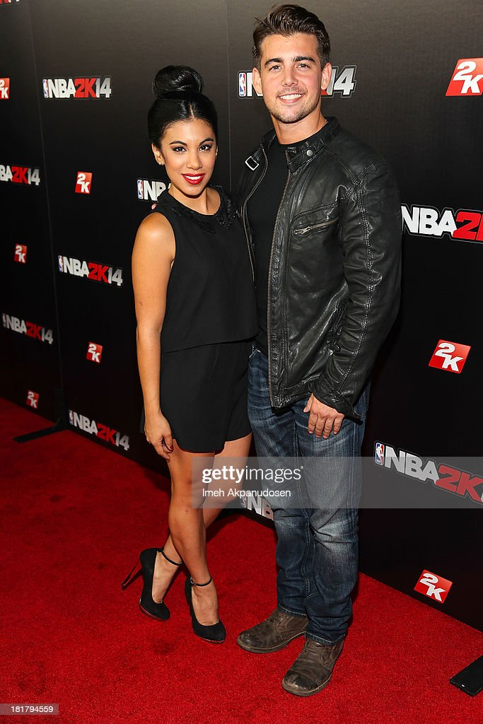 Actress <a gi-track='captionPersonalityLinkClicked' href=/galleries/search?phrase=Chrissie+Fit&family=editorial&specificpeople=8807904 ng-click='$event.stopPropagation()'>Chrissie Fit</a> (L) and actor John DeLuca attend the premiere party for the NBA2K14 video game at Greystone Mansion on September 24, 2013 in Beverly Hills, California.