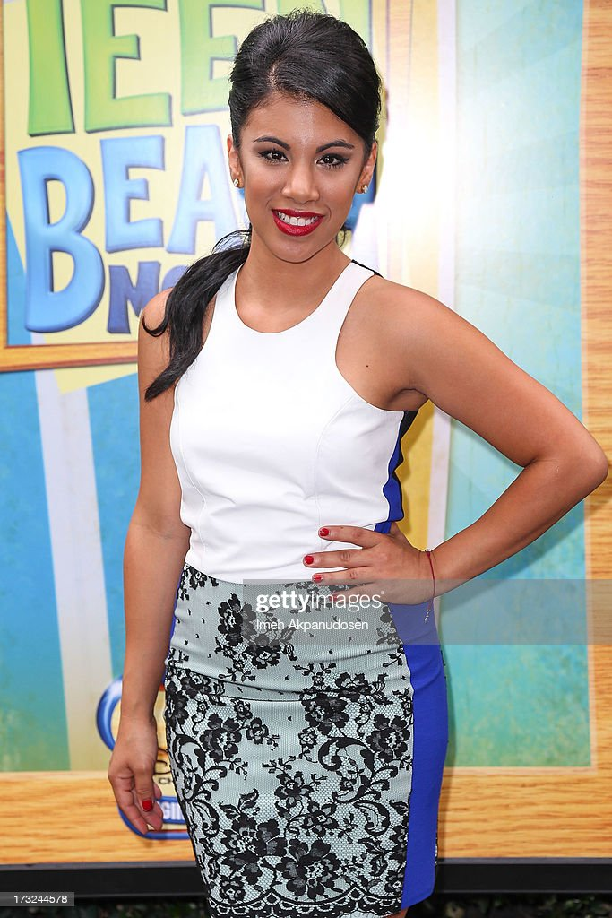 Actress Chrissie Fit attends the cast of 'Teen Beach Movie' reunion for movie night at Walt Disney Studios on July 10, 2013 in Burbank, California.