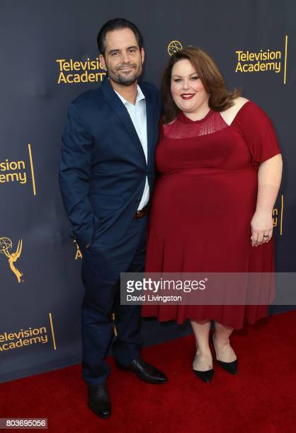Actress Chrissy Metz and Josh Stancil attend the Words Music event hosted by the Television Academy at Wolf Theatre on June 29 2017 in North...