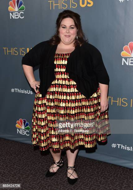 Actress Chrissy Metz attends a screening of the season finale of NBC's 'This Is Us' at The Directors Guild Of America on March 14 2017 in Los Angeles...