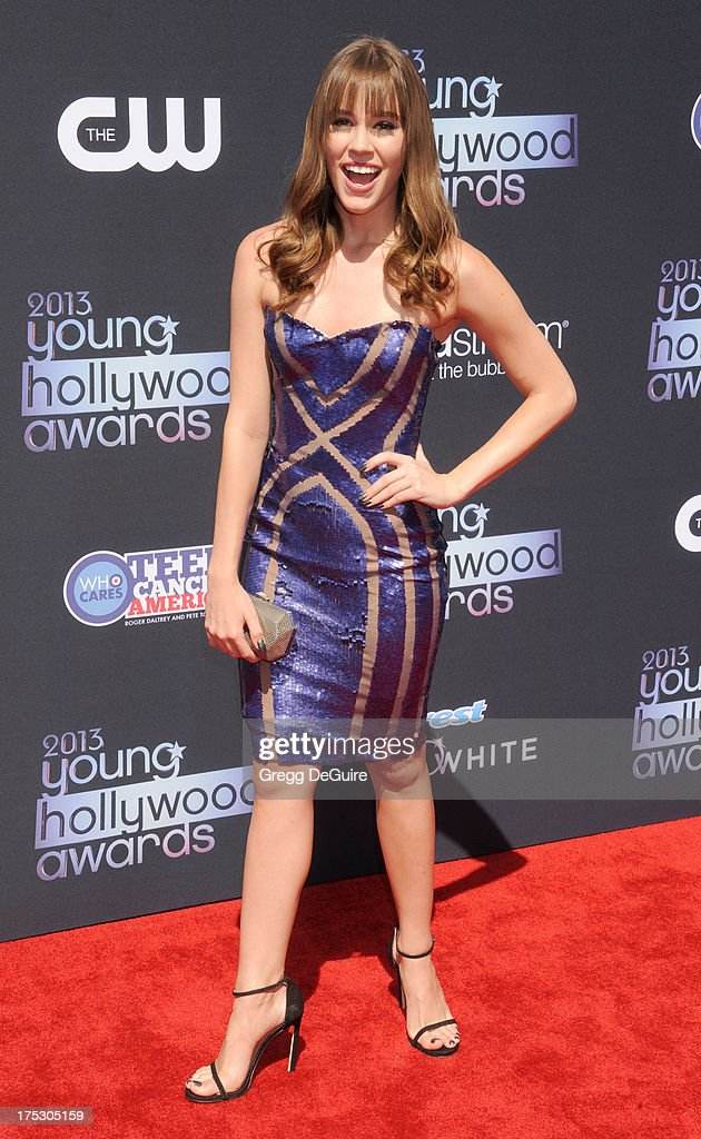 Actress Christa B. Allen arrives at the 15th Annual Young Hollywood Awards at The Broad Stage on August 1, 2013 in Santa Monica, California.